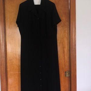 L L Bean black dress